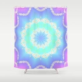 Garlands of Daisies Shower Curtain