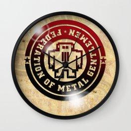 FEDERATION OF METAL GENTLEMEN LOGO Wall Clock