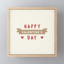Happy Valentine's Day Framed Mini Art Print