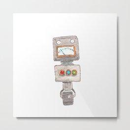 Robot 02 Metal Print