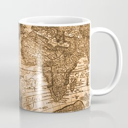 World Map Antique Vintage Maps Coffee Mug