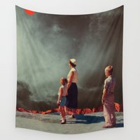 mother Wall Tapestries featuring Mother Show Me The Way by Frank Moth