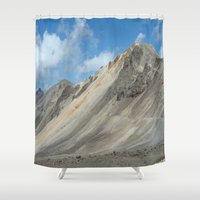 engineer Shower Curtains featuring Engineer Pass by JSwartzArt