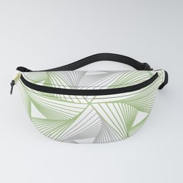 Optical illusion forming hexagon with triangles- Line composition forming different shapes Fanny Pack