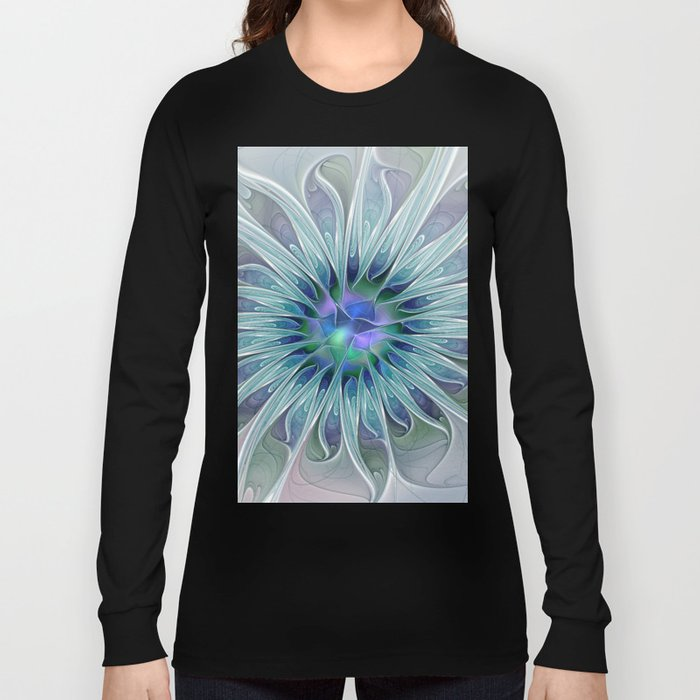 Floral Beauty, Fantasy Flower Long Sleeve T-shirt
