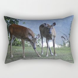 Grazing Deer Rectangular Pillow