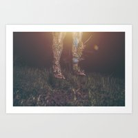 legs Art Prints featuring Legs by Imustbedead