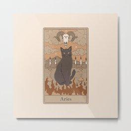 Aries Cat Metal Print