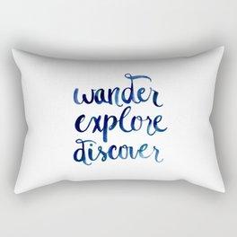 Wander, Explore, Discover Rectangular Pillow