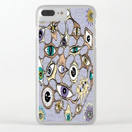geodesic eyes Clear iPhone Case