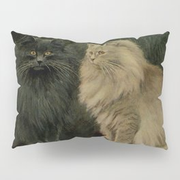 Vintage Persian Cat Illustration (1903) Pillow Sham