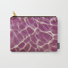 Ripple patterns of crystal clear water over pink sand Carry-All Pouch