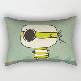 Green Pirate Rectangular Pillow
