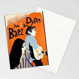 Vintage 1965 Bob Dylan in Concert Poster Stationery Cards