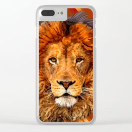 Old Lion Clear iPhone Case