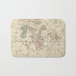 Alexander Jamieson - Celestial Atlas 1822 Plate 10 Aquila & Antinous Bath Mat