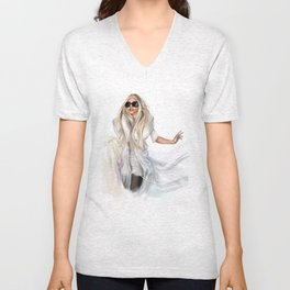 Mother Monster in  NYC Unisex V-Neck