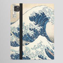 The Great Wave off Kanagawa by Katsushika Hokusai from the series Thirty-six Views of Mount Fuji Art iPad Folio Case