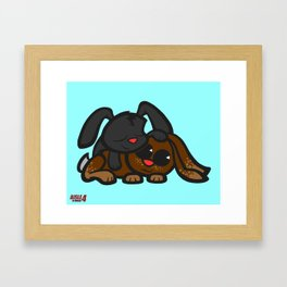 Cuddle Bunnies Framed Art Print