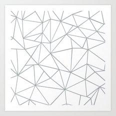 Ab Outline 2 Grey on White Art Print