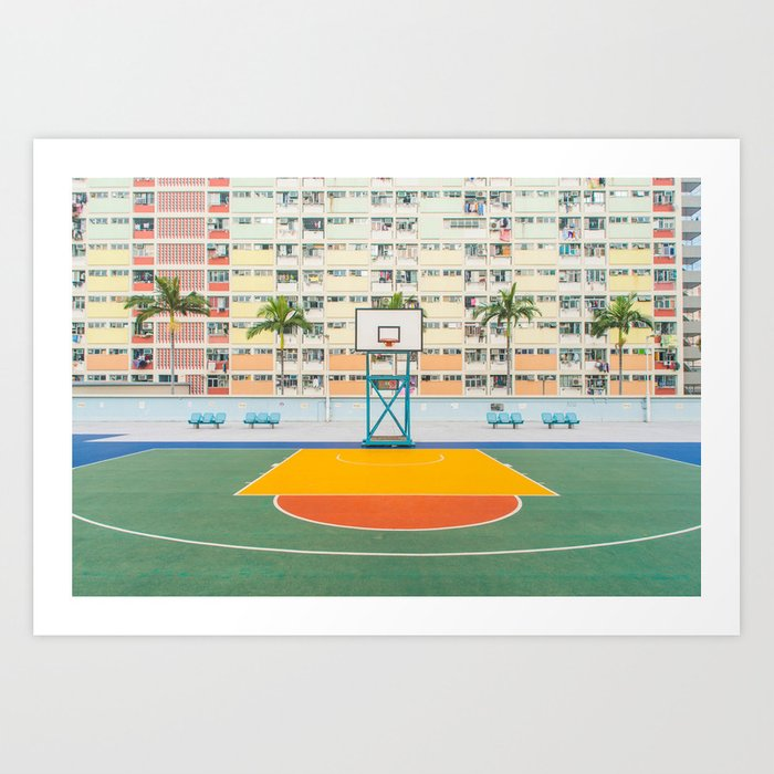 Basket orange yellow Art Print