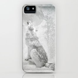 Wolf howl at the Moon iPhone Case