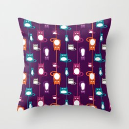Cats pattern Throw Pillow