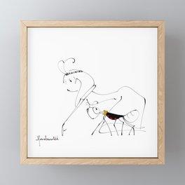 let's go find food together Framed Mini Art Print