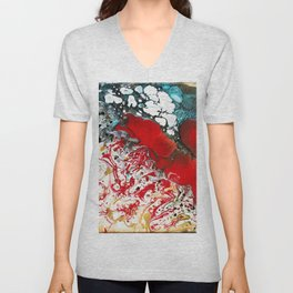 Abstract Field of Flowers - Vulpecula Unisex V-Neck