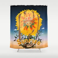 swag Shower Curtains featuring Sunrise Swag  by ANNINUT