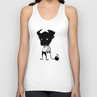 bull Tank Tops featuring bull by Negative Dragon