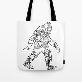 Bigfoot in the pacific northwest Tote Bag