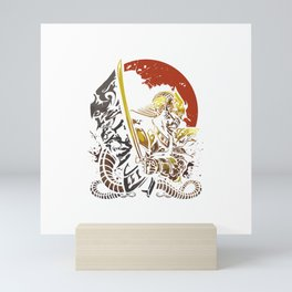Japanese Samurai Bushido Warrior Graphic Art T-Shirt Mini Art Print