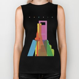 Shapes of Madrid. Accurate to scale. Biker Tank