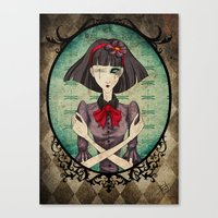 dragonfly Canvas Prints featuring Dragonfly by Beñat Olea