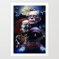 stephen king Art Prints featuring Stephen King by Saint Genesis