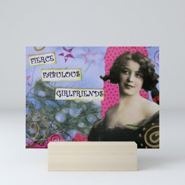 Girlfriends, Fierce Fabulous Girlfriends, Mixed Media Art Mini Art Print