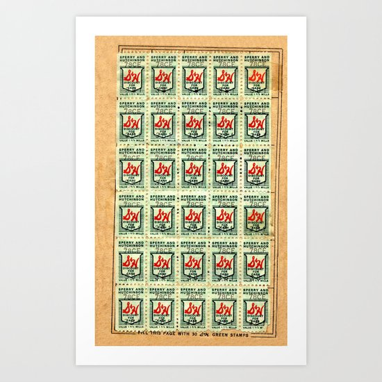 S&H GREEN STAMPS Art Print