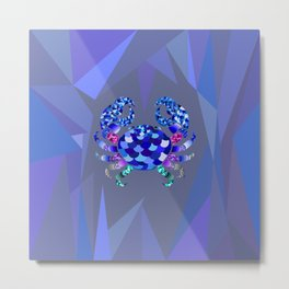 The Blue Crab Metal Print