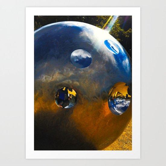 LightBall on Earth Art Print