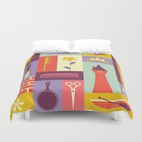 rapunzel Duvet Covers featuring Rapunzel by Ariel Wilson
