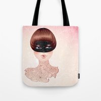 leah flores Tote Bags featuring Flores by Pete K.