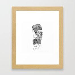 Nefertiti bust dotted Framed Art Print