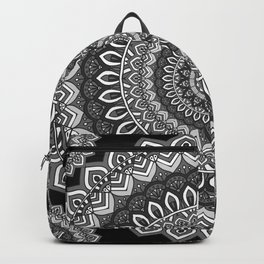 MANDALA IN BLACK AND WHITE Backpack