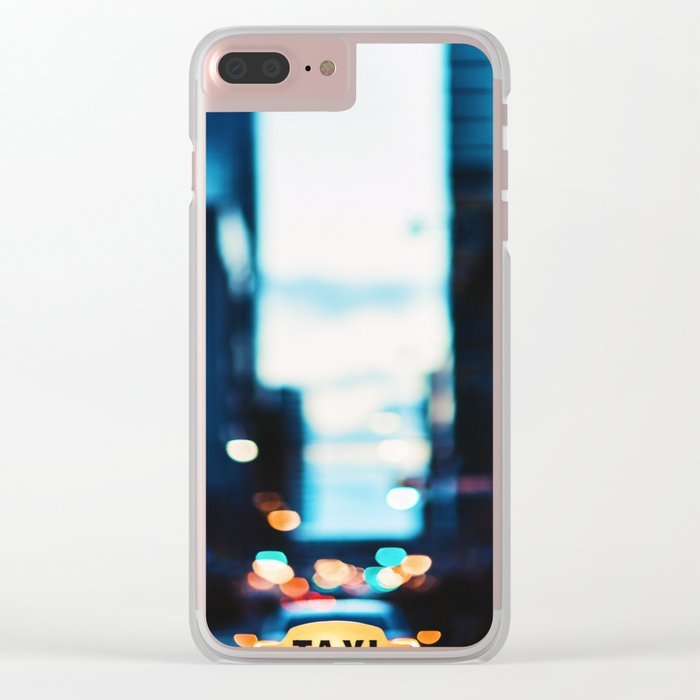 Blurred City Lights Clear iPhone Case