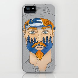 Forest Man iPhone Case