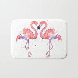 Pink Flamingo Love Two Flamingos Bath Mat