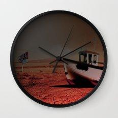 Deseert Boat Wall Clock