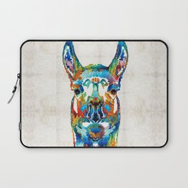 Colorful Llama Art - The Prince - By Sharon Cummings Laptop Sleeve