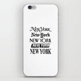 I Heart New York City Black and White New York Poster I Love NYC Design black-white home wall decor iPhone Skin
